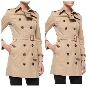 Burberry London trench coat with leather detail